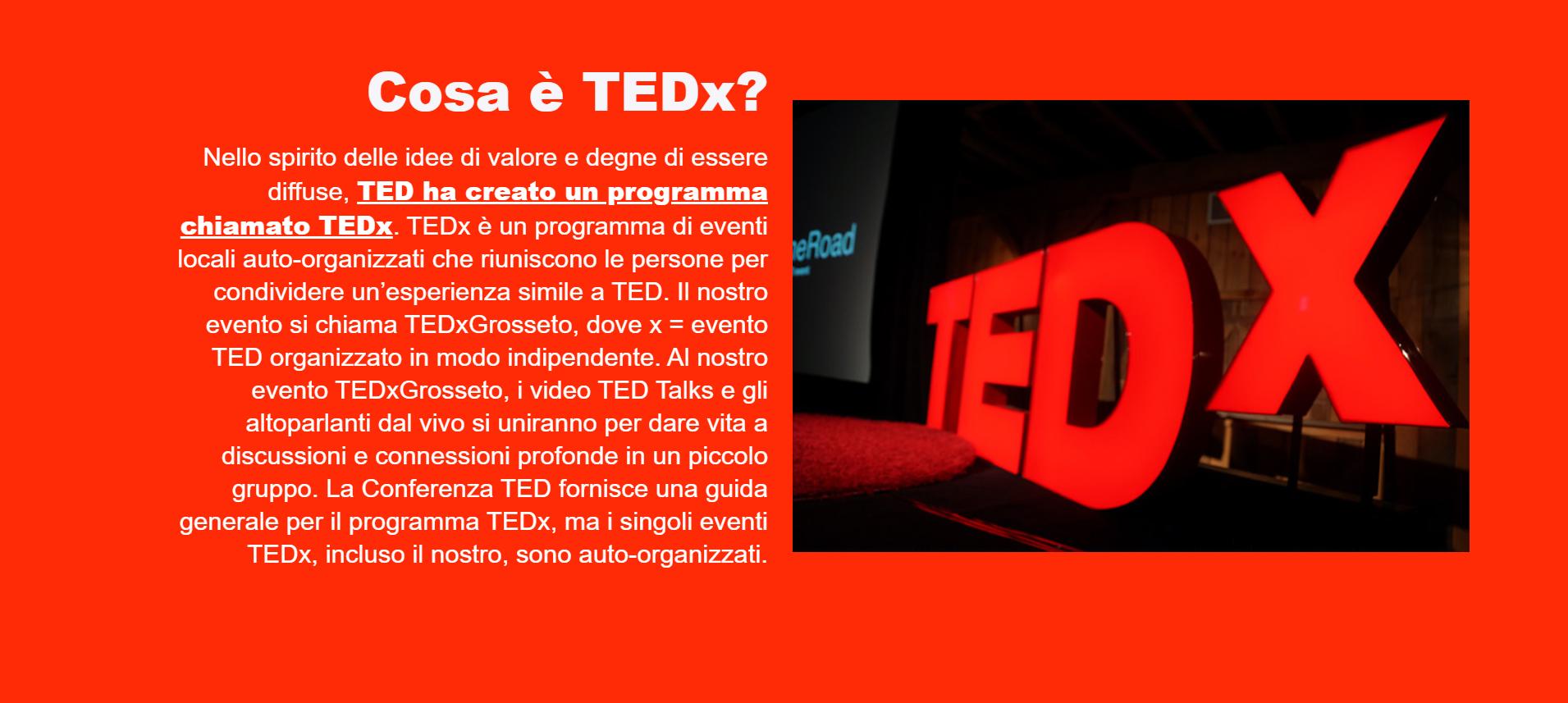 Cosa è TEDx?